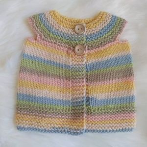 Other - INFANT HAND KNITTED SWEATER VEST